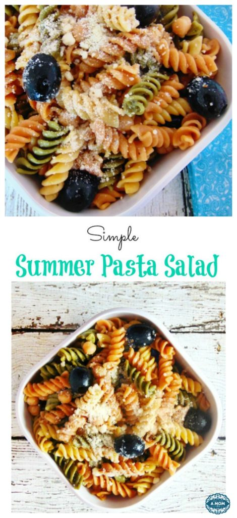 super simple summer pasta salad