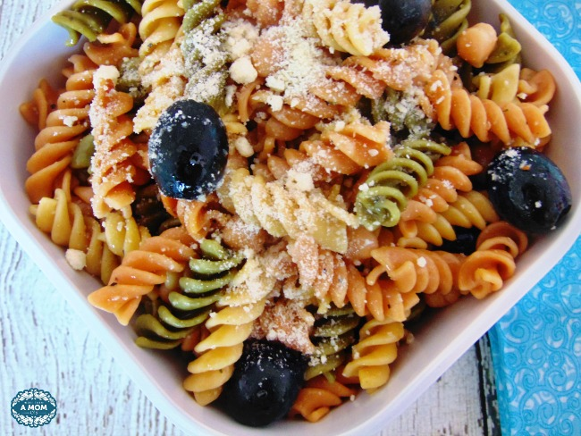 tri color summer pasta salad