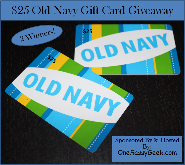$25 Old Navy Gift Card Giveaway