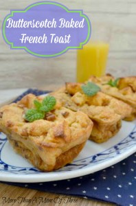 Butterscotch Baked French Toast