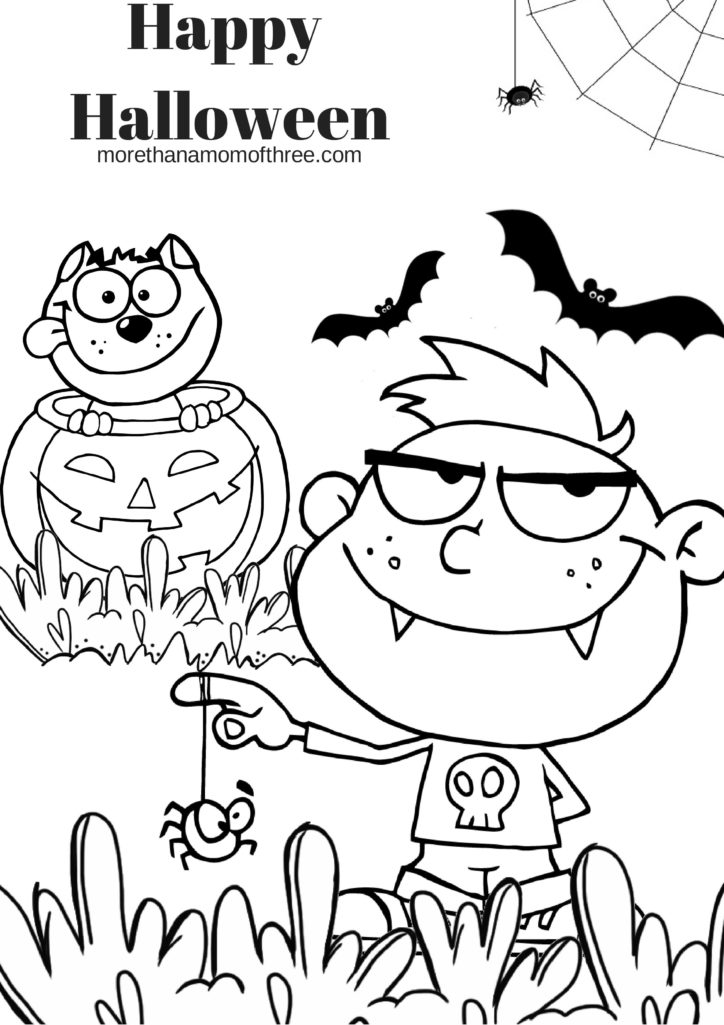 Free halloween coloring pages printable for Printable halloween coloring pages