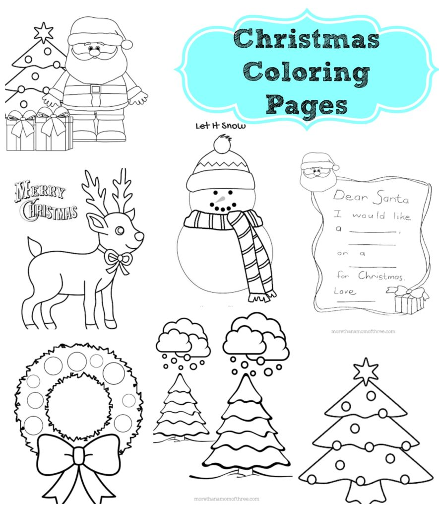 christmas coloring pages printables. Black Bedroom Furniture Sets. Home Design Ideas