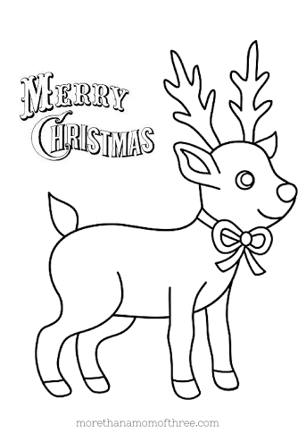 Christmas coloring pages printables for Christmas reindeer printable coloring pages