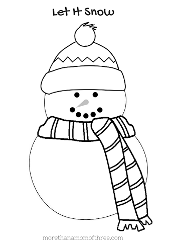 easy snowman coloring pages - photo#11