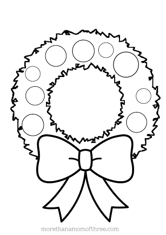 Christmas coloring pages printables for Christmas wreath coloring pages