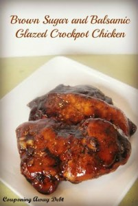 Brown Sugar and Balsamic Glazed Crock Pot Chicken