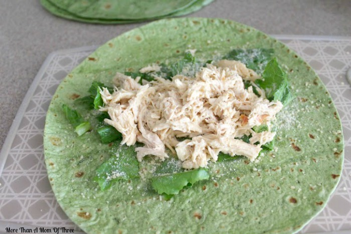 Crockpot Chicken Caesar Wrap