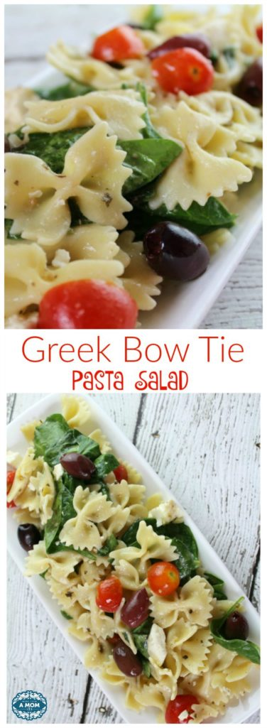 Greek Bow Tie Pasta Salad