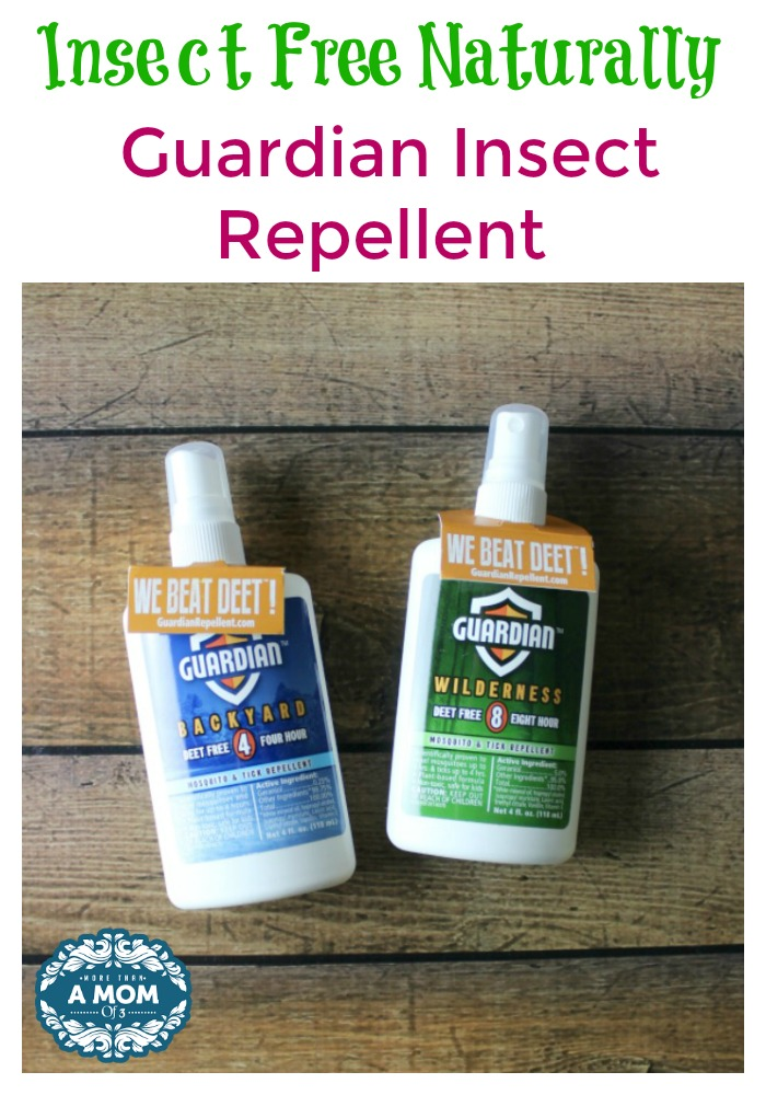 Insect Free Naturally with Guardian Insect Repellent