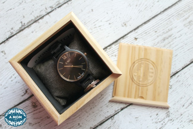 Men's Watches For Fall JORD FRANKIE Ebony & Gold Wood Watch