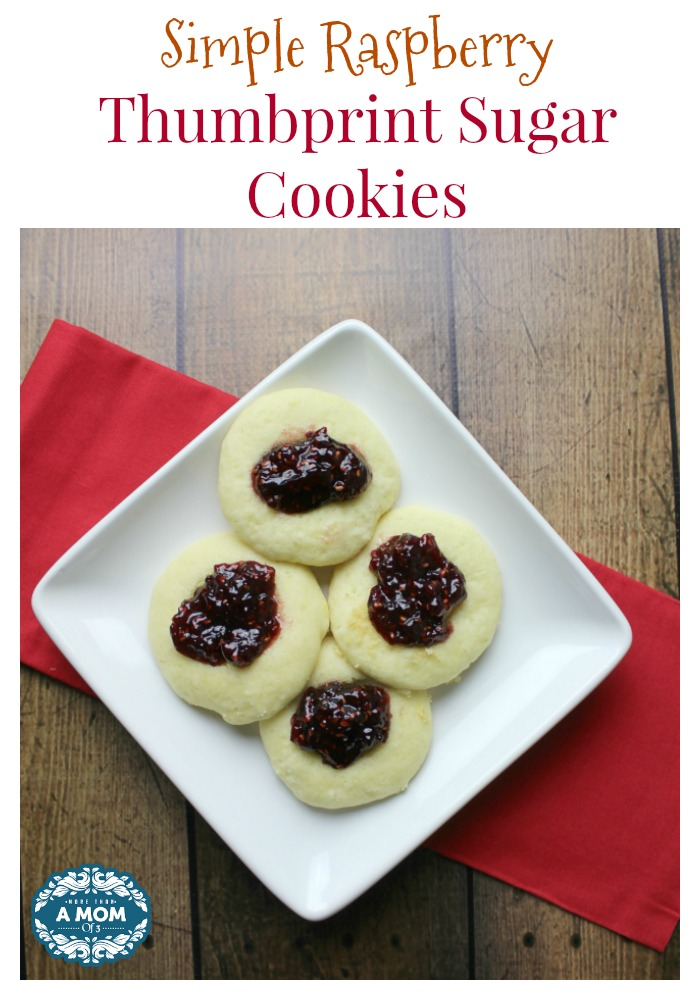 Simple Raspberry Thumbprint Sugar Cookies