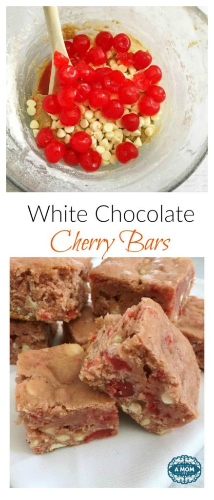 White Chocolate Cherry Bars