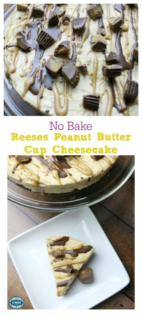No Bake Reeses Peanut Butter Cup Cheesecake Delicious Dessert