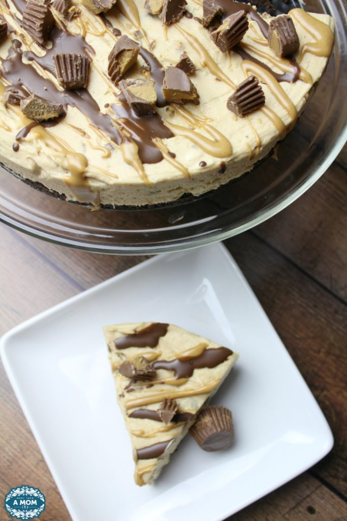No Bake Reeses Peanut Butter Cup Cheesecake