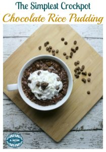 Crockpot Chocolate Rice Pudding
