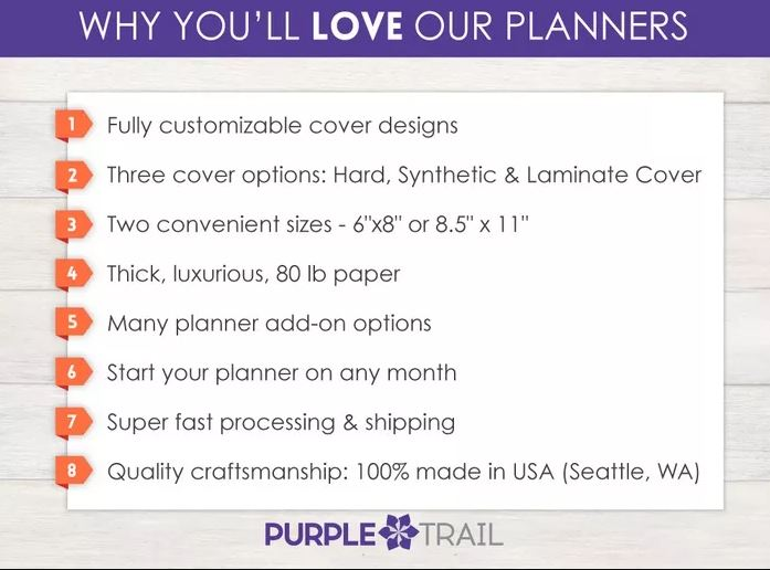 purple trail planners