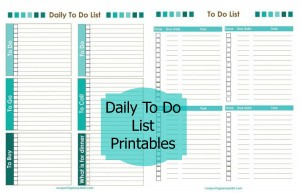 daily to do list printables