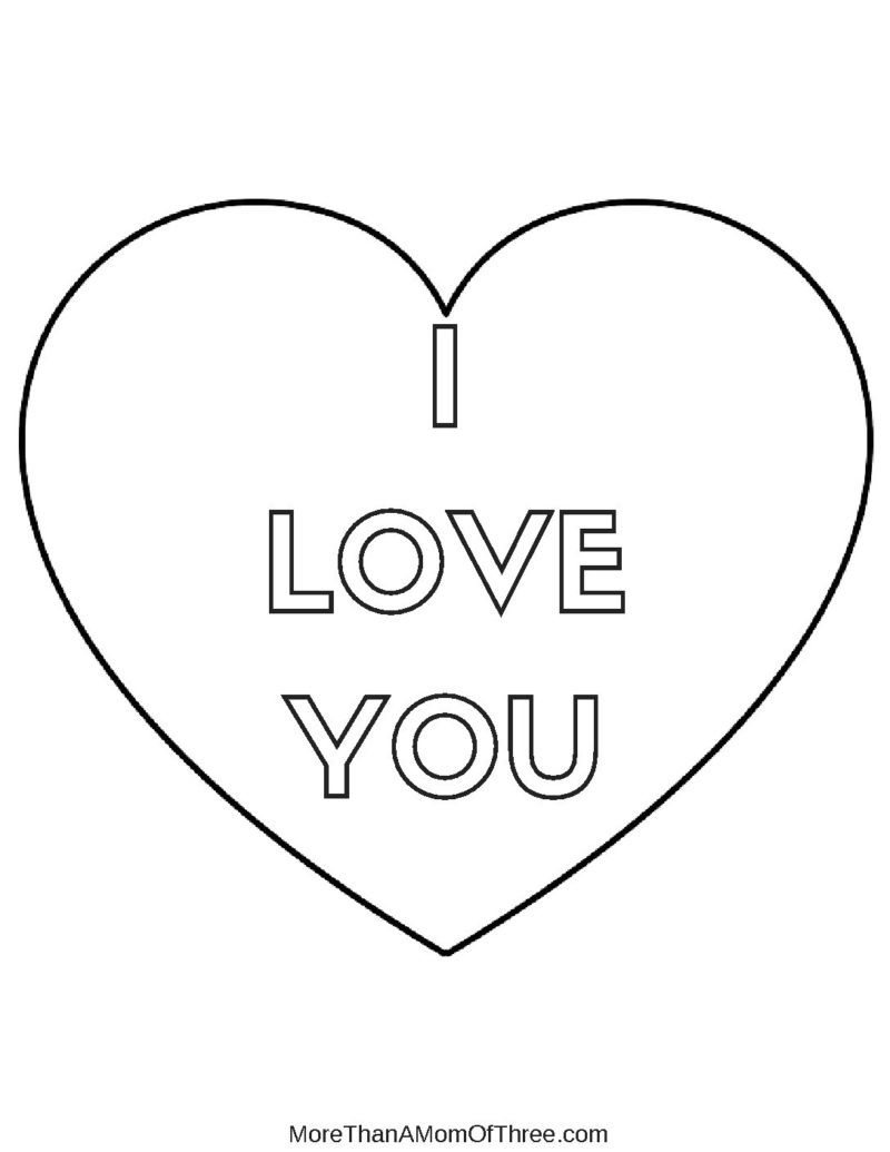 I Love You Coloring Pages Pdf : I love you coloring page