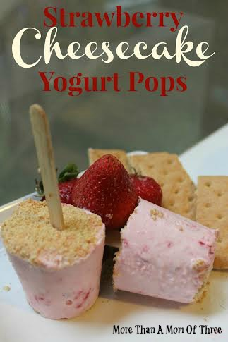 Strawberry Cheesecake Yogurt Pops