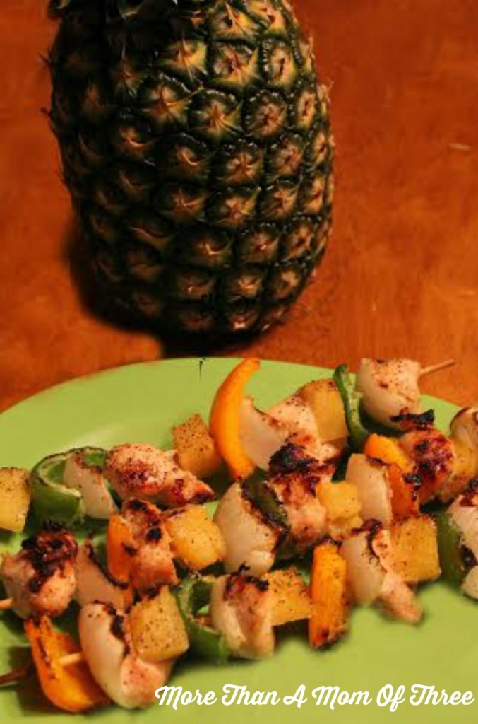 grilled hawiian chicken kabobs