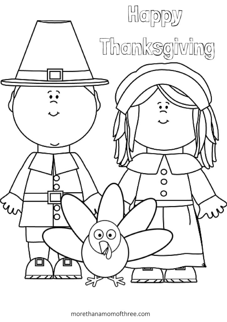 Free Thanksgiving Coloring Pages Printables For Kids - More Than A Mom Of  Three