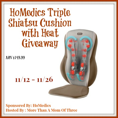 HoMedics Triple Shiatsu Cushion giveaway