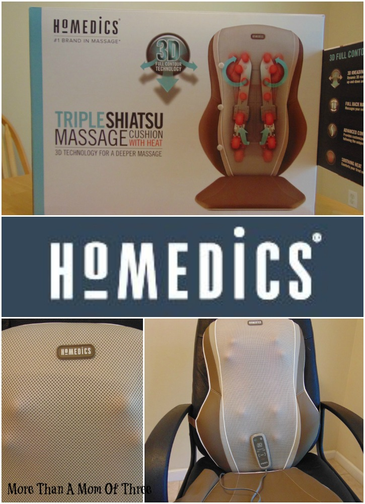 HoMedics Triple Shiatsu Cushion with Heat
