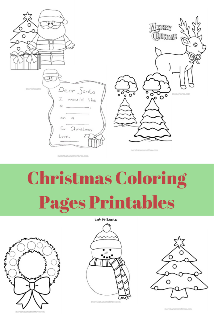 free kids christmas coloring pages printables more than a mom of three