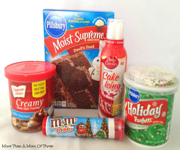 wreath cupcake ingredients