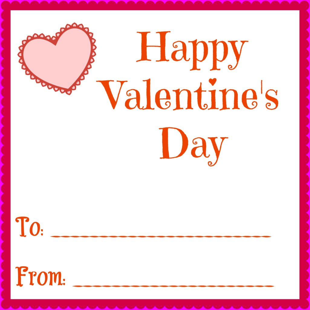 graphic relating to Printable Valentines Day Cards for Kids referred to as Very simple Printable Valentines Working day Playing cards For Your Children