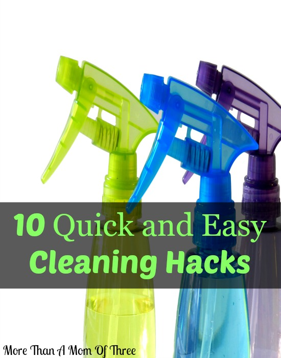 10 Quick and Easy Cleaning Hacks