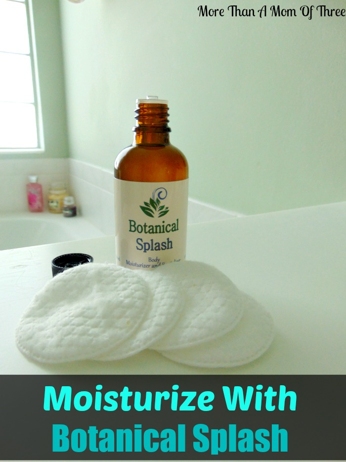 Moisturize With Botanical Splash