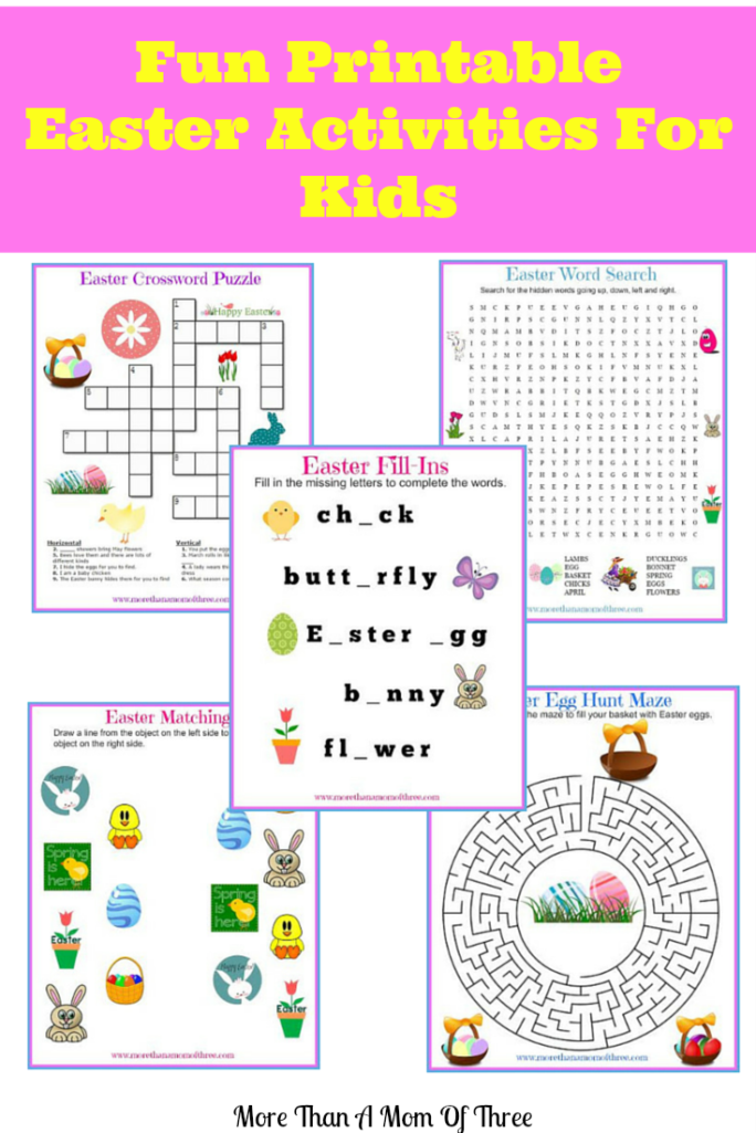 image regarding Printable Word Fill Ins Puzzles identify Pleasurable Printable Easter Routines For Little ones - Even further Than A Mother