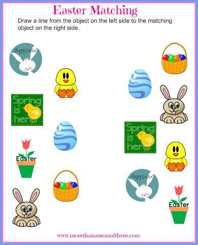 Easter matching printable