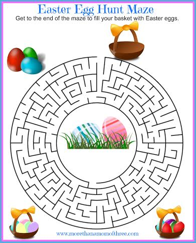 Easter Egg Hunt Maze printable