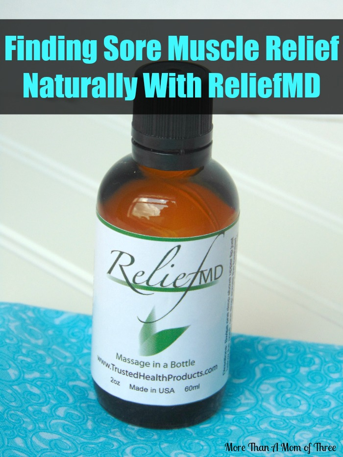 Finding Sore Muscle Relief Naturally With ReliefMD