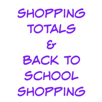 shopping totals & back to school shopping