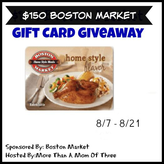 boston market 150 giveaway