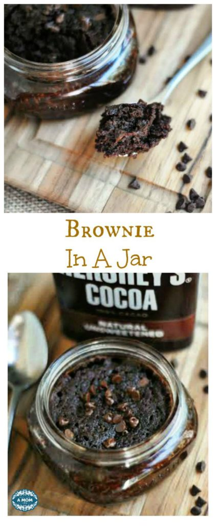 single serving brownie in a jar