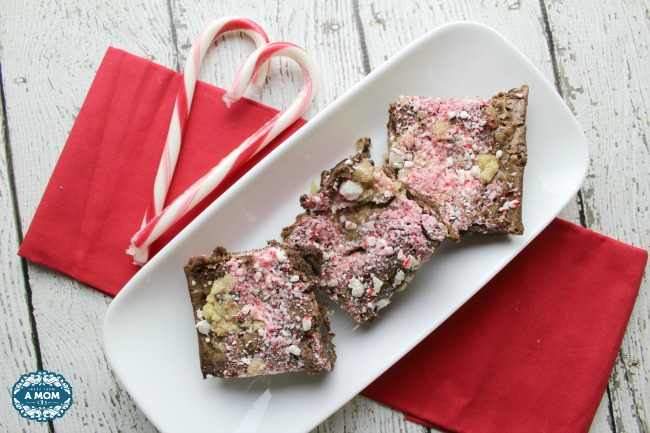 Peppermint Candy Cane Cookie Brownies