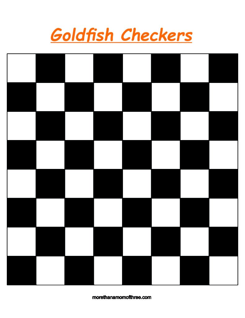 picture regarding Printable Checkers Board identified as Goldfish Crackers Checkers Printable #GoldfishMoments