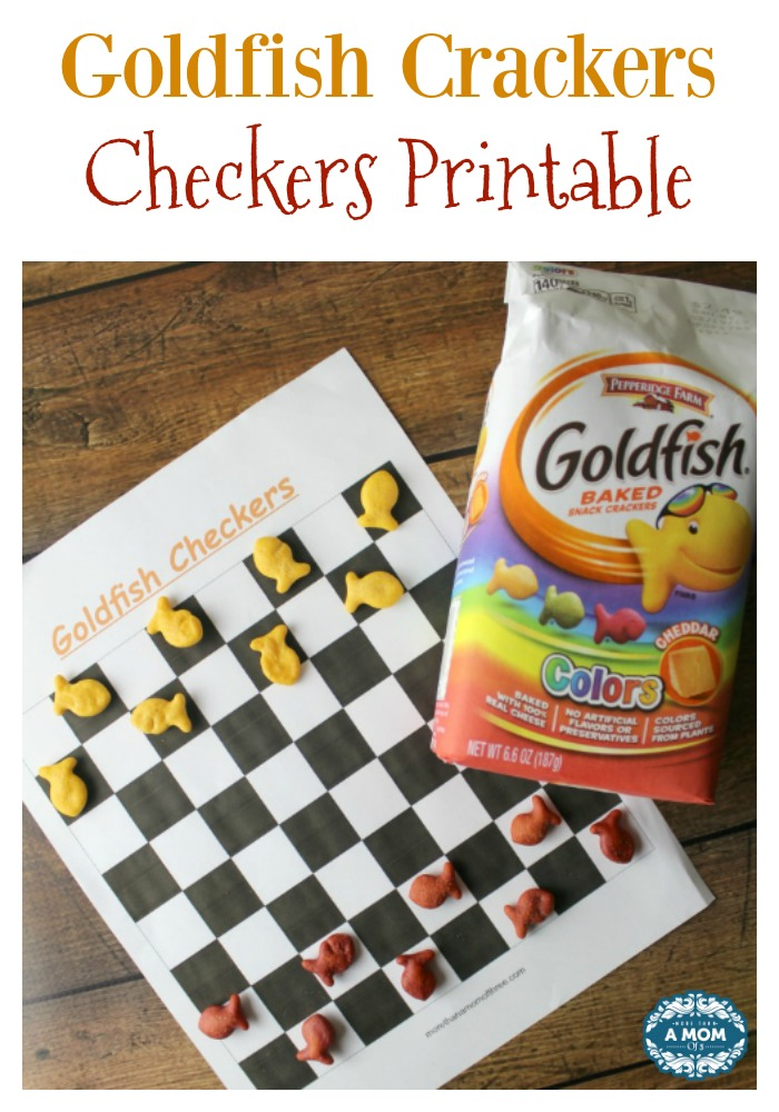 Goldfish Crackers Checkers Printable