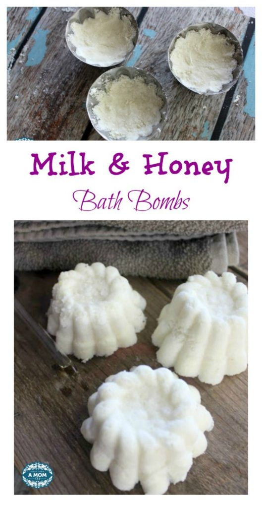 Milk and Honey Bath Bombs