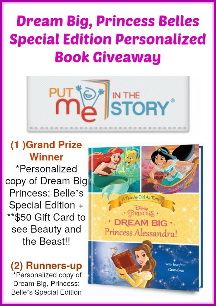 Dream Big, Princess Belles Special Edition Personalized Book+ Giveaway