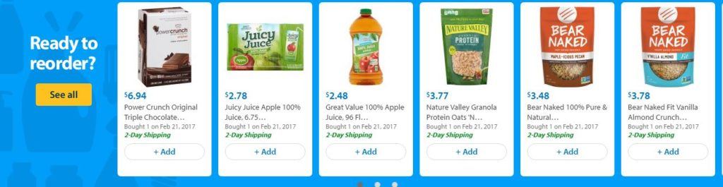 grocery shopping online Walmart 2 day free shipping