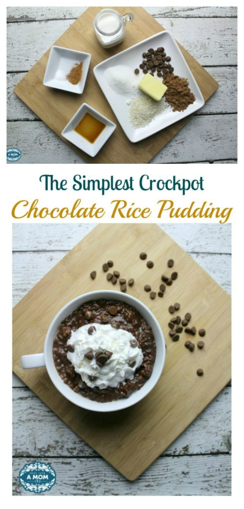 The Simplest To Die For Crockpot Chocolate Rice Pudding You'll Ever Make