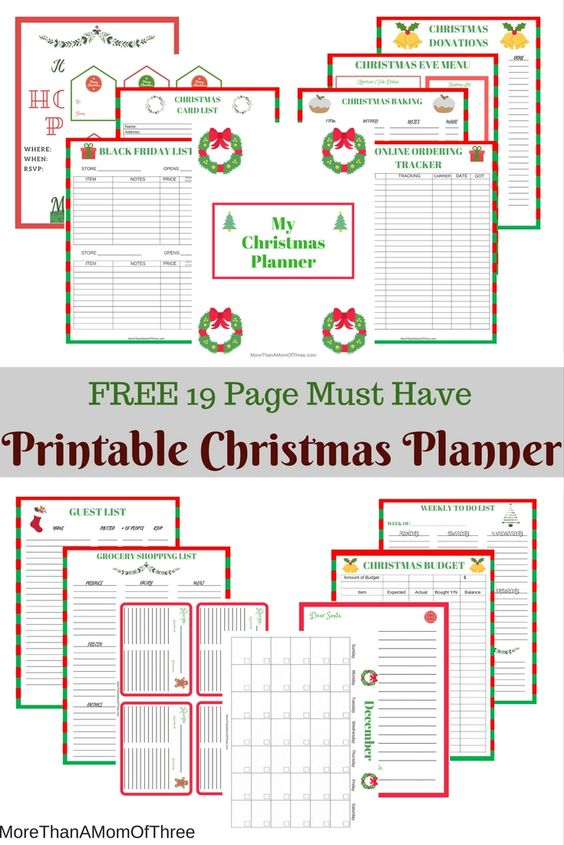 photograph regarding Christmas Planner Printable identify Which includes A Manager Collection: No cost 19 Internet pages Xmas Planner