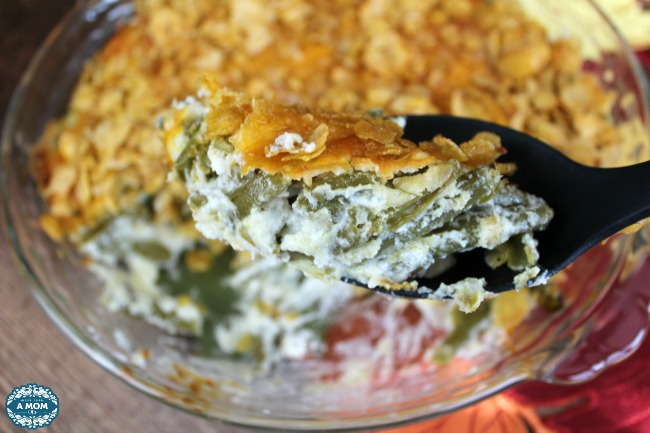 Thanksgiving Cornflake Green Bean Casserole