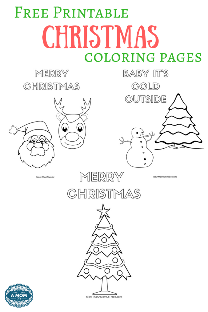 Free Printable Christmas Coloring Pages For Kids - More Than A Mom ... | 1024x683