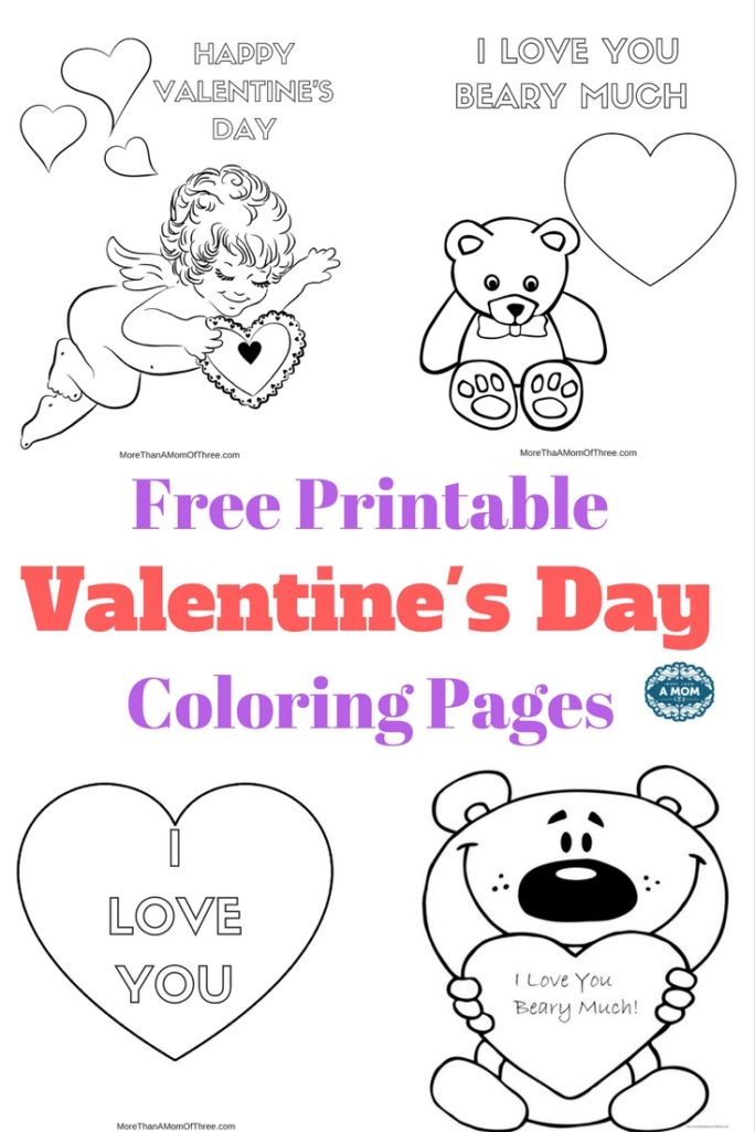 - Free Valentines Day Coloring Pages Printables For Kids - More Than A Mom Of  Three
